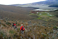 Taking a hike in Cotopaxi National Park, Ecuador.