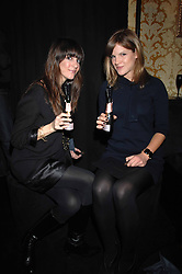 Left to right, actress TARA MERCURIO and KATE SUMNER daughter of singer Sting in the Moet & Chandon Room at British Fashion Week at the Natural History Museum on 15th February 2007.<br /><br />NON EXCLUSIVE - WORLD RIGHTS