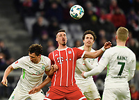 v.l. Milos Veljkovic (Bremen), Sandro Wagner, Thomas Delaney, Florian Kainz <br /> Muenchen, 21.01.2018, Fussball Bundesliga, FC Bayern München - SV Werder Bremen<br /> <br /> Norway only
