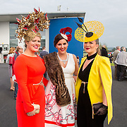 09.10.2016           <br /> Attend the Keanes Jewellers Best dressed competition at Limerick Racecourse were, Ann Coyle, Caroline Monaghan and Katie Togher all from Erris Co. Mayo. Picture: Alan Place