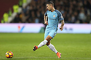 Aleksandar Kolarov of Manchester City in action. Premier league match, West Ham Utd v Manchester city at the London Stadium, Queen Elizabeth Olympic Park in London on Wednesday 1st February 2017.<br /> pic by John Patrick Fletcher, Andrew Orchard sports photography.