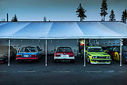 Image of the paddock during the BMW Pro 3 Series Racing at The Ridge Motorsports Complex in Shelton, Washington, Pacific Northwest by Randy Wells