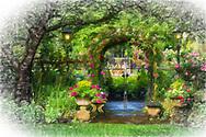 Lavish garden in Butchart Gardens,British Columbia,Canada