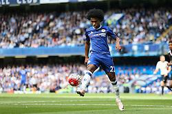 Willian of Chelsea in action - Mandatory byline: Jason Brown/JMP - 15/05/2016 - FOOTBALL - London, Stamford Bridge - Chelsea v Leicester City - Barclays Premier League