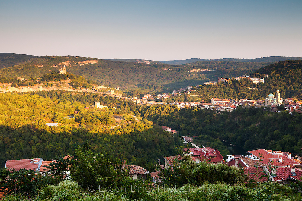 Landscape of Tarnovo at sunset
