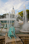 Fountain of the Lions in the Plaza Las Delicias February 21, 2009 in Ponce, Puerto Rico.