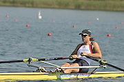 Banyoles, SPAIN, GBR W1X, katherine GRAINGER at the start of the Race for lanes in the Women's single sculls  FISA World Cup Rd 1. Lake Banyoles  Saturday, 30/05/2009   [Mandatory Credit. Peter Spurrier/Intersport Images]