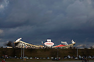 KANSAS CITY, MO - DECEMBER 14:   Storm blowing over Arrowhead Stadium, home of the Kansas City Chiefs, before a game against the San Diego Chargers on December 14, 2008 in Kansas City, Missouri.  The Chargers defeated the Chiefs 22-21.  (Photo by Wesley Hitt/Getty Images) *** Local Caption *** Sports photography by Wesley Hitt photography with images from the NFL, NCAA and Arkansas Razorbacks.  Hitt photography in based in Fayetteville, Arkansas where he shoots Commercial Photography, Editorial Photography, Advertising Photography, Stock Photography and People Photography