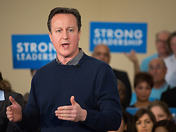 ©Licensed to i-Images Picture Agency. 07/03/2015. Harrow, United Kingdom. Prime Minister David Cameron makes a speech at a rally in North London.  Picture by Daniel Leal-Olivas / i-Images