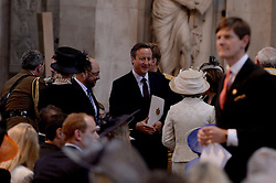 © London News Pictures. 18/06/2015. London, UK. Image of Prime Minister David Cameron during a service of commemoration at St Paul's Cathedral to mark the 200th Anniversary of the Battle of Waterloo.  Photo credit: Corporal Andy Reddy/LNP