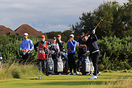 Conor Gough (GB&I) on the 6th tee during Day 2 Foursomes of the Walker Cup, Royal Liverpool Golf CLub, Hoylake, Cheshire, England. 08/09/2019.<br /> Picture Thos Caffrey / Golffile.ie<br /> <br /> All photo usage must carry mandatory copyright credit (© Golffile   Thos Caffrey)