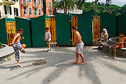 ITALY, Liguria, Rapallo.....ITALY, Liguria, Rapallo: adolscents playing football