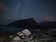 Stars in the night sky over the Eagle's Nest Mountain in Killarney National Park.<br /> Photo: Don MacMonagle <br /> e: info@macmonagle.com<br /> Photo: Don MacMonagle