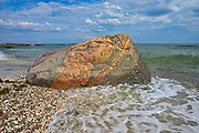 Rocky shoreline along the North Shore of the Gulf of St. Lawrence<br />
