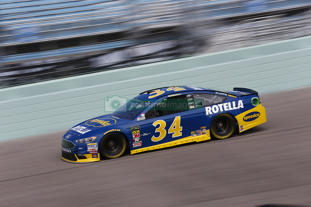 November 17, 2018 - Homestead, Florida, U.S. - Michael McDowell (34) takes to the track to practice for the Ford 400 at Homestead-Miami Speedway in Homestead, Florida. (Credit Image: © Justin R. Noe Asp Inc/ASP)