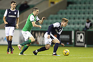 Jamie Murphy (Hibernian) and Finlay Robertson (Dundee) during the Betfred Scottish League Cup match between Hibernian and Dundee at Easter Road, Edinburgh, Scotland on 15 November 2020.