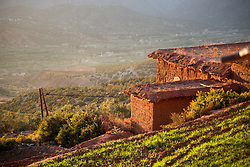 4 January 2018, Tinzert, Morocco: The village of Tinzert is at least 600 years old. Built on the mountainside at 1600 meters, the village was originally used only in the summers, when warm weather made life too hot in the valley below. Inhabited mostly by farmers, the village has grown to become the full-year residence of a couple of hundred Moroccan Berbers.