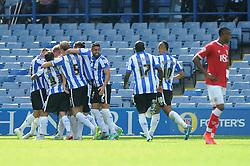 celebrates a goal with his team mates - Mandatory byline: Dougie Allward/JMP - 07966386802 - 08/08/2015 - FOOTBALL - Hillsborough Stadium -Sheffield,England - Sheffield Wednesday v Bristol City - Sky Bet Championship