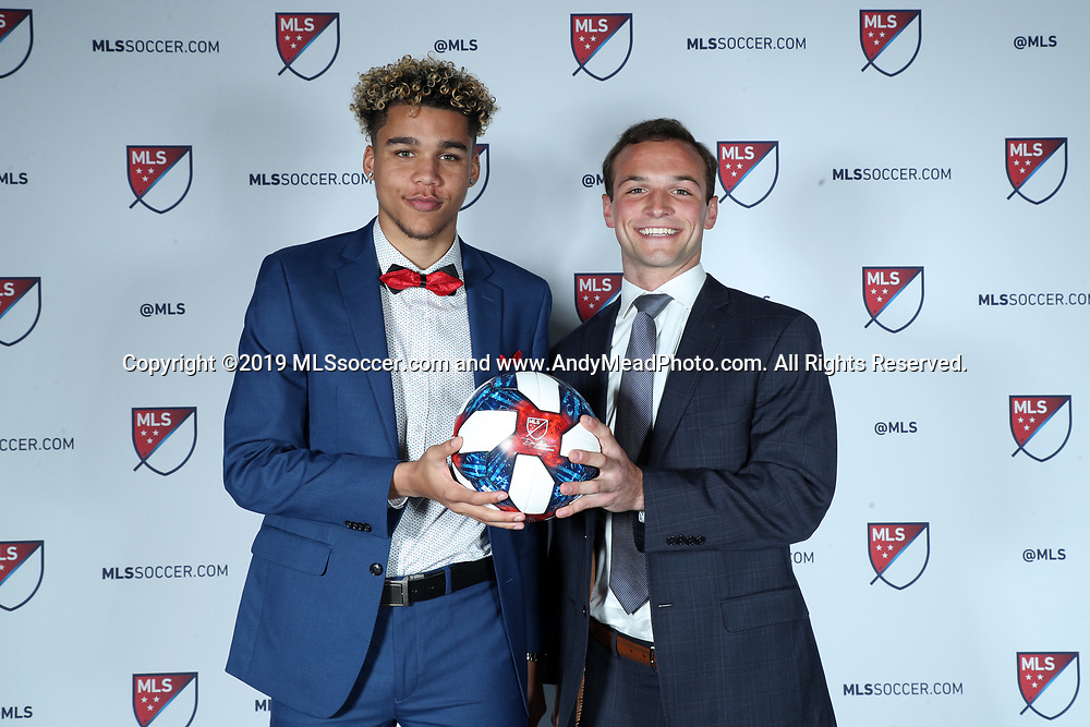 CHICAGO, IL - JANUARY 11: Dayne St Clair was taken with the seventh overall pick and Chase Gasper with the fifteenth by Minnesota United FC. The MLS SuperDraft 2019 presented by adidas was held on January 11, 2019 at McCormick Place in Chicago, IL.