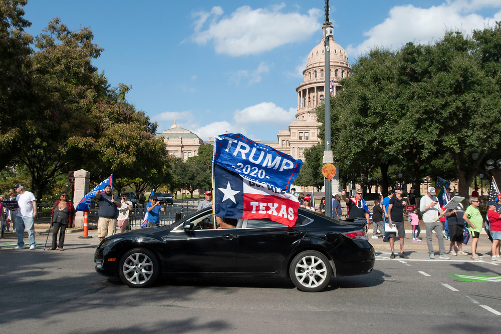 Hundreds of President Donald Trump's supporters rally between the Governor's Mansion and the Texas Capitol, adamant that the president should not concede to Joe Biden until cases of election fraud are investigated and all votes counted. So far no widespread cases of illegal voting have arisen almost two weeks after the election.
