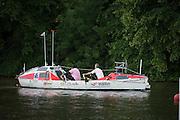 Henley Royal Regatta, Henley on Thames, Oxfordshire, 3-7 July 2013.  Wednesday  12:01:11   03/07/2013  [Mandatory Credit/Intersport Images]<br /> <br /> Rowing, Henley Reach, Henley Royal Regatta.<br /> <br /> Ocean Rowing Boat seen at Henley