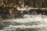 A cold fall morning on Kootenai Falls, Montana.