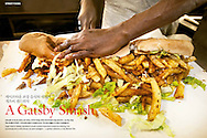 Tear sheet from a feature on Cape Town's Gatsby sandwiches that I photographed for Morning Calm, Korean Air's inflight Magazine.