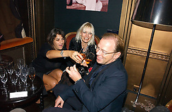 Left to right, TRACEY EMIN, VIRGINIA BATES and DAVID COLLINS at a party hosted by Dom Perignon at Sketch, Conduit Street, London on 18th October 2006.<br />