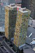 Aerial view of the Veer Towers Condos - Las Vegas