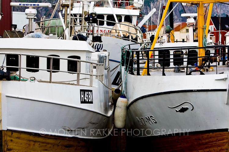 Norway, ships anchored at harbor