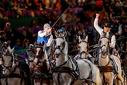 CHARDON Bram (NED), CHARDON Ijsbrand (NED)<br /> Leipzig - Partner Pferd 2020<br /> TRAVEL CHARME Hotels & Resorts Trophy <br /> FEI Driving World Cup™<br /> FEI World Cup Qualifikation der Vierspänner<br /> Zeithindernisfahren für Vierspänner, international<br /> 19. Januar 2020<br /> © www.sportfotos-lafrentz.de/Stefan Lafrentz