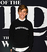 """13 February 2020 - Hollywood, California - Parker Bates  at the World Premiere of twentieth Century Studios """"The Call of the Wild"""" Red Carpet Arrivals at the El Capitan Theater."""