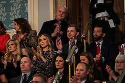 FEBRUARY 5, 2019 - WASHINGTON, DC: Ivanka Trump, Lara Trump, Eric Trump, and Donald Trump, Jr. during the State of the Union address at the Capitol in Washington, DC, USA on February 5, 2019. Photo by Doug Mills/Pool via CNP/ABACAPRESS.COM