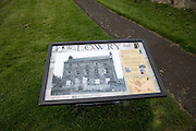 The Lion House and Lowry information board, Berwick-upon-Tweed, Northumberland, England, UK