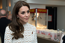 The Duchess of Cambridge, Patron of Action on Addiction, at Working Titles Office in London to view highlights of the Recovery Street Film Festival.