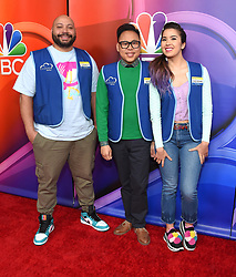 February 20, 2019 - Hollywood, California, U.S. - Colton Dunn, Nico Santos and Nichole Bloom on the carpet at the NBCUniversal Mid Season Press Junket at Universal Studios. (Credit Image: © Lisa O'Connor/ZUMA Wire)