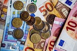 Illustration Euro currency and Coronavirus. Rotterdam, Netherlands, April 18, 2020. Photo by Robin Utrecht/ABACAPRESS.COM