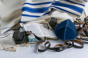 Teffilin, Talith and Sidur for Jewish ritual