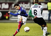 Fotball , 31. oktober 2010 ,  Tippeligaen , Eliteserien<br /> Hønefoss -Vålerenga 3-1<br /> <br /> Mustafa Abdellaoue , Mos , VIF