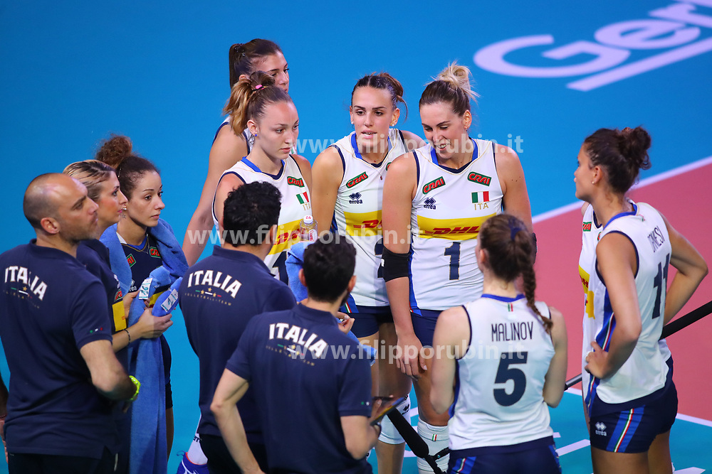 TIME OUT ITALIA<br /> ITALIA - REPUBBLICA DOMINICANA<br /> PALLAVOLO VNL VOLLEY FEMMINILE 2019<br /> CONEGLIANO (TV) 28-05-2019<br /> FOTO FILIPPO RUBIN