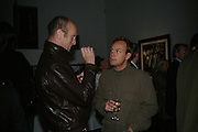 JOHNNY SHAND KIDD AND JASON DONOVAN, Helmut Newton XL. Hamiltons. Carlos Place. London. 25 September 2007. -DO NOT ARCHIVE-© Copyright Photograph by Dafydd Jones. 248 Clapham Rd. London SW9 0PZ. Tel 0207 820 0771. www.dafjones.com.