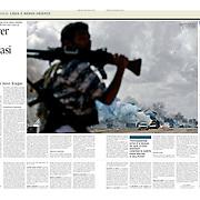 """Tearsheet of """"Libya: Morrer por Benghazi"""" published in Expresso"""