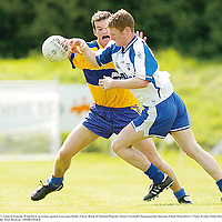 20 May 2007; Liam O'Lonain, Waterford, in action against Laurance Healy, Clare. Bank of Ireland Munster Senior Football Championship Quarter-Final, Waterford v Clare, Fraher Field, Dungarvan, Co. Waterford. Picture credit: Matt Browne / SPORTSFILE