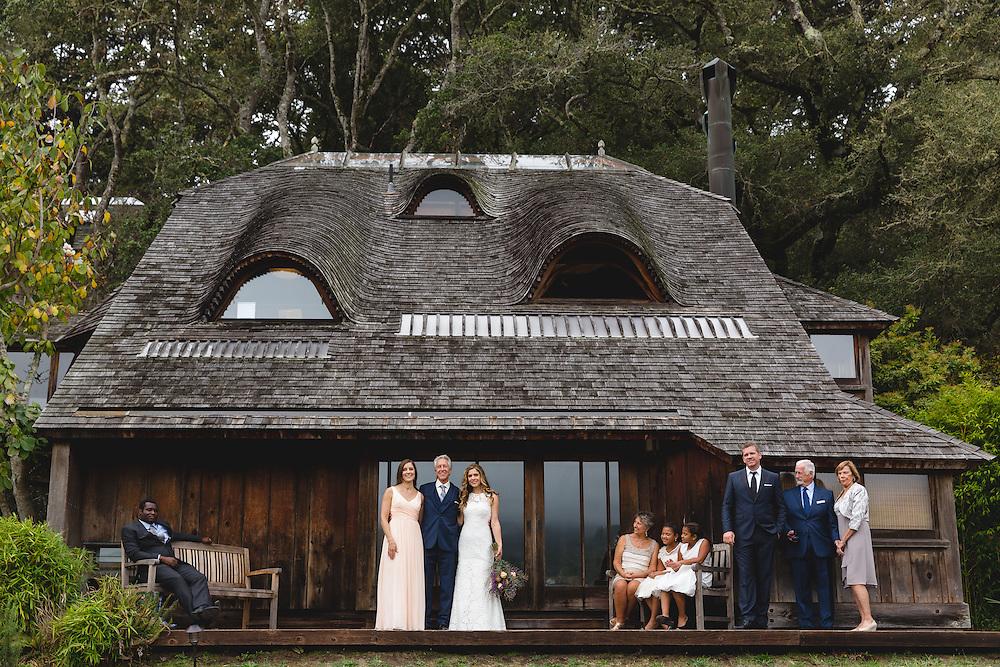 Shannon Springer and Jyri Kidwell host a DIY wedding in the barn at Mann Ranch in Bolinas, California.