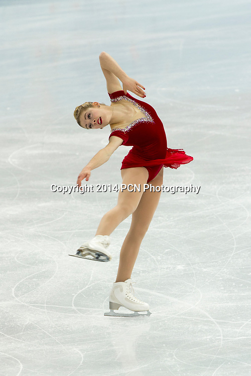 Gracie Gold (USA) competiting in the Women's Figure Skating Short Program at the Olympic Winter Games, Sochi 2014