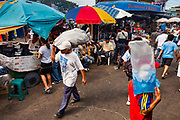 08 JANUARY 2007 - MANAGUA, NICARAGUA:  People walk through Mercado Oriental, the main market that serves Managua, Nicaragua. The market encompasses dozens of square blocks and is the largest market in Central America.  Photo by Jack Kurtz