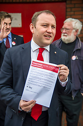 Pictured: Ian Murray was also focused on saving the Morningside Post Office which is a hub of the community.<br /> <br /> <br /> Scottish Labour's Ian Murray and Scottish Labour leader Kezia Dugdale hit the general election campaign trail in Edinburgh today for the first campaign event of Mr Murray's re-election campaign for the Edinburgh South constituency.<br /> Ger Harley   EEm 21 April 2017
