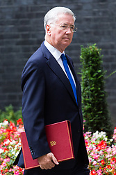 London, October 10 2017. Defence Secretary Michael Fallon attends the UK cabinet meeting at Downing Street. © Paul Davey
