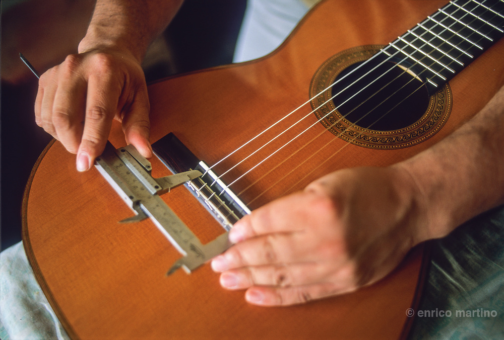 Paracho,  Abèl Garcia, one of the most famous guitarreros, guitar makers, of this small purepecha village famous for its handmade guitars.