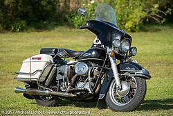 Harley-Davidson Shovelhead at the AMCA (Antique Motorcycle Club of America) Sunshine Chapter National Meet in New Smyrna Beach during Daytona Beach Bike Week. FL. USA. Saturday March 11, 2017. Photography ©2017 Michael Lichter.